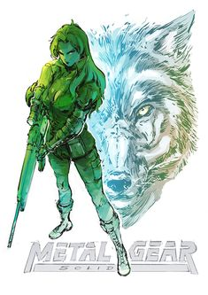 This is sniper wolf her main weapon is the sniper rifle(No way never would have guessed) and she also has wolf companions that scout people out when she is set up in her sniping position. I might use animal companions for my boss i really like that idea. Metal Gear Solid Ps1, Metal Gear Solid Series, Game Character, Character Design, Metal Gear Games, Metal Gear Rising, Gear Art, Video Game Art, Video Games