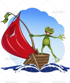 Realistic Graphic DOWNLOAD (.ai, .psd) :: http://jquery.re/pinterest-itmid-1003206749i.html ... frog on a boat ...  abstract, adventure, alive, amphibious, animal, boat, curiosity, eye, fauna, frog, gecko, glance, green, happy, illustration, interest, joy, merry, nature, paw, red, sail, sailing, sea, tongue, travel, vector, water, wave  ... Realistic Photo Graphic Print Obejct Business Web Elements Illustration Design Templates ... DOWNLOAD…