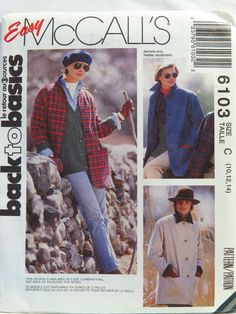 McCall's 6103 Misses' Unlined Jacket