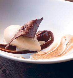"""... Hot"""" Chocolate Sauce, Graham Cracker Ice Cream, Chocolate Wafer"""