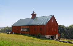 A Bank Barn with custom sliding doors in Drumore, PA built by B&D Builders. Check out www. for more pictures! Sliding Door Window Treatments, Sliding Doors, Bank Barn, Old Barns, Horse Barns, Horses, Country Barns, Country Living, Best Barns