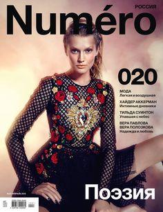 Toni Garrn in Dolce&Gabbana for Numéro Russia February