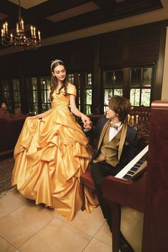For brides that want to feel like royalty, Disney princess wedding dresses are here. The regal collection features 6 magnificent gowns. Disney Wedding Gowns, Disney Inspired Wedding, Disney Princess Dresses, Disney Dresses, Princess Wedding Dresses, Disney Weddings, Robes Disney, Yellow Wedding Dress, Princess Bridal