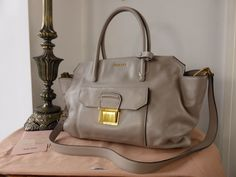 bab66614eed6 Miu Miu Large Tote in Pomice Vitello Soft - SOLD