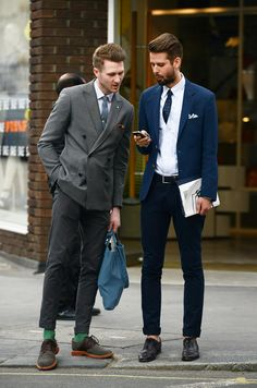 Fitted suits.