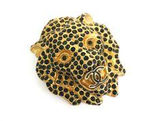 #Chanel Lion Broach Metal Gold/Black(BF061221) #eLADY