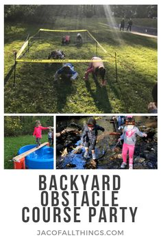 Learn how we put together a backyard obstacle course party for my daughter's birthday. Kids had so much fun running through the obstacles! Plenty of ideas and directions on how you can plan your own backyard obstacle course party. Obstacle Course Party, Toddler Obstacle Course, Backyard Obstacle Course, Mazes For Kids, Outdoor Activities For Kids, Fun Activities, Kids Ninja Warrior, Ninja Warrior Course, American Ninja Warrior Obstacles