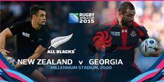 #NZL vs #GEO #NZLvGEO #RWC2015 #TeamAllBlacks vs #RugbyIsOurGame