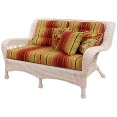 "Classic Coastal Newport Wicker Settee by Classic Coastal. $892.99. Available in multiple all-weather wicker colors. Deluxe 6"" thick deep seating cushions provide generous comfort. Extra wide arm design provides generous comfort and unique style. An assorted number of colorful outdoor cushions. Ever strong all-weather wicker will never fade, crack, peel, or rust. The Classic Coastal Newport Wicker provides premium outdoor comfort and style. Wide designed arms and delu... Deep Seat Cushions, Classic Sofa, Family Living Rooms, Love Seat, Cheap Leather Sofas, Retro Sofa, Luxury Sofa Modern, Wicker Loveseat, Outdoor Comfort"