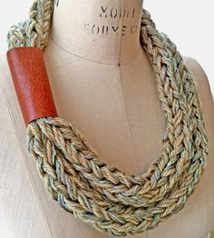 Petra Green Knit Necklace