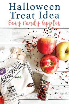 Make these fun Halloween Candy Apple Slices with the simple DIY from Everyday Party Magazine #Halloween #CandyApples