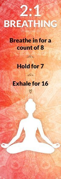 My favorite tip from the class is how to calm an anxious mind with a simple breathing technique – 2:1 breathing.  For example breathe in for a count of 8, hold for 7 and exhale for 16.  If this is too hard at first, start by breathing in for 4, holding fo