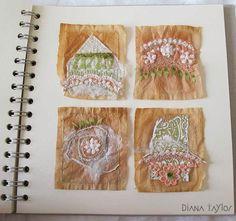 Velvet Moth Studio: Teabag Art, Silk Paper and WOYWW #277