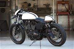 Harley Cafe Racer by DP Customs This is one of the newer customs from DP, it's based on a Harley-Davidson 1200 Sportster but looks like a totally new animal.