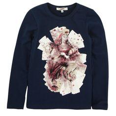 Junior Gaultier Tee-shirt en jersey bleu marine Bleu - 41396 | Melijoe.com