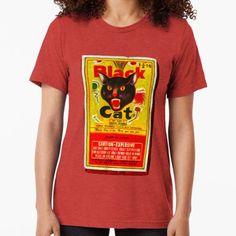 efbd9d270a80 Black Cat Fireworks T-Shirt Tri-blend T-Shirt