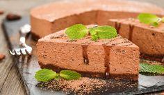 Leichter Low Carb Schokocreme-Kuchen