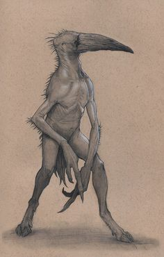 First piece in my new sketchbook. Back to using the toned paper. Means crow in Greek.