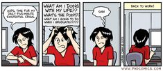 phdcomics regularly posts funny comics about life as a graduate/doctoral student. I used to regularly include one of these on my staff meeting agendas with grad students.