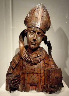 Reliquary of a Bishop, German, c. 1510, limewood or walnut, 78.7. #palmermuseumofart
