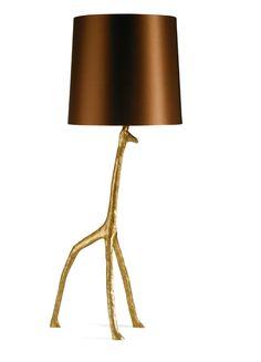 LUXE Art Metal Giraffe Lamp