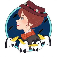 Mary Poppins by on DeviantArt Disney Nerd, Disney Diy, Disney Fan Art, Disney Love, Disney Pixar, Disney Characters, Disney Stuff, Walt Disney, Disney Princesses And Princes