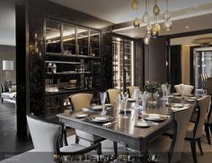 Dining Room Chairs designed by Barbara Barry realized by Henredon