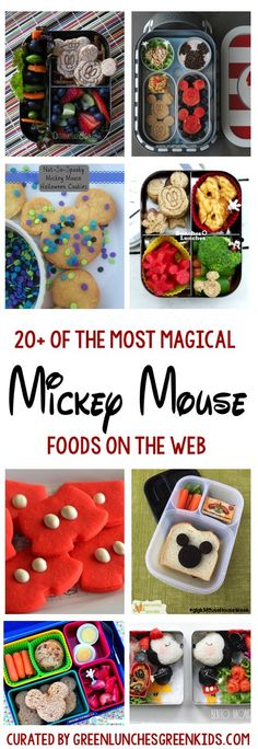 List of 20+ of the Most Magical Mickey Mouse Foods on the web as curated by Green Lunches, Green Kids