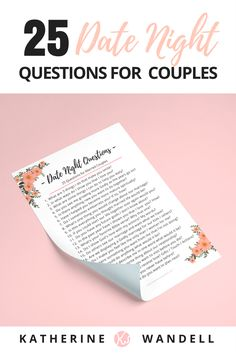 PERFECT FOR MARRIED COUPLES! -Free Valentine's Day Date Night Questions  Printable - Katherine Wandell | WOMAN BY DESIGN BLOG | Pinterest