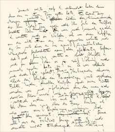 A manuscript page from Franz Kafka's The Trial.