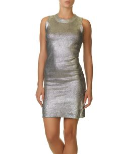 Glamorous women's sleeveless dress in silver color with round neckline and tight fit. Womens Silver Dress, Silver Color, Glamour, Dresses, Fashion, Vestidos, Moda, Fashion Styles, Dress