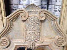 Close up of the 1970 Mirror refurbished with Chalk Paint® decorative paint by Annie Sloan! #chalkpaint #anniesloan #morethanpaint