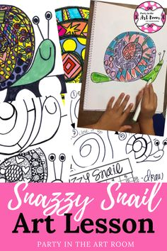 snazzy snail art project for kids