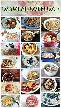 The Best of The Best Oatmeal Recipes!  Good way to get a healthy start without getting bored of oatmeal.