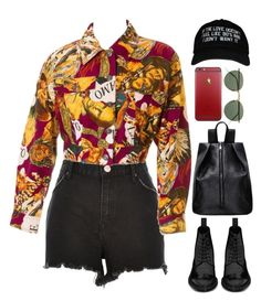 """""""nineties"""" by mikaylaperrine ❤ liked on Polyvore featuring River Island, Moschino, Yves Saint Laurent and Ray-Ban"""