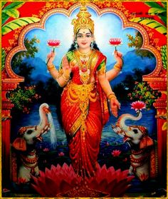 Goddess Art, Goddess Lakshmi, Gayatri Devi, Indian Spirituality, Tantra Art, Mata Rani, Divine Mother, Divine Grace, Lord Ganesha