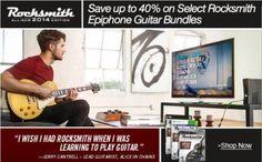 Rocksmith tiene  40% de descuento en sus  paquetes con guitarras Epiphone    http://amzn.to/1FcV7Fl