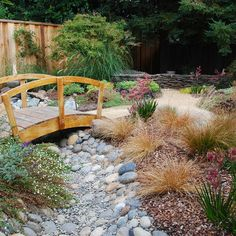 The smaller footbridge for your Asian garden. I have one over my dry creek been in my Asian garden.