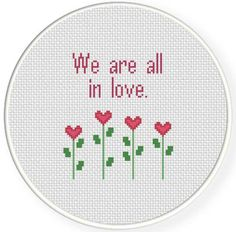 FREE for May 27h 2014 Only - We Are All In Love Cross Stitch Pattern