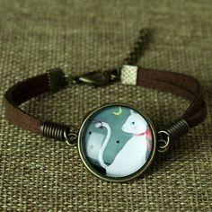 Glass Galaxy Bracelets Leather Bracelet. 3 Variants