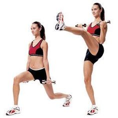 reverse lunge with front kick