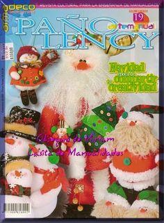 Como hacer un muñeco de santa claus Christmas Crafts, Xmas, Christmas Ornaments, Book Crafts, Craft Books, My Scrapbook, Miniature Dolls, Softies, Vintage Prints