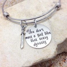 Jewelry - Disney - Bangle - Bracelet - Disney Jewelry - Mulan - Hand Stamped - Gift - Gift for her