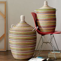 Graphic Printed Baskets - Rainbow West Elm gets me Large Toy Storage, Toy Storage Bench, Fabric Storage, Storage Ideas, Blanket Storage, Storage Baskets, Shoe Storage Ikea Hack, Basket Organization, Office Organization