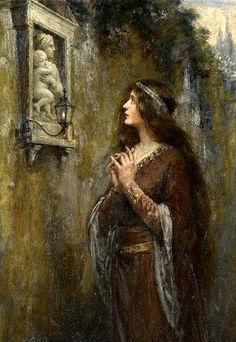 Jennie Augusta Brownscombe (1850-1936): El santuario.