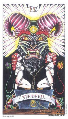 8 coins tattoo tarot devil