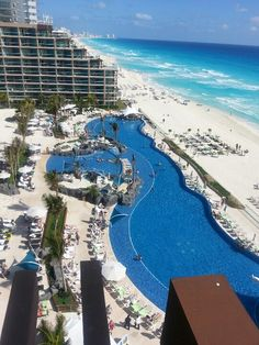 Feb. 2013:  Hard Rock Hotel, Cancun, MEXICO (This was our balcony view!!!)