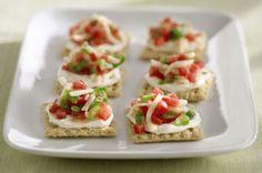 TRISCUIT Crackers Bruschetta Bites are definitely dressed to impress.