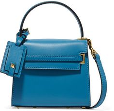 Valentino - My Rockstud Micro Leather Shoulder Bag - Bright blue