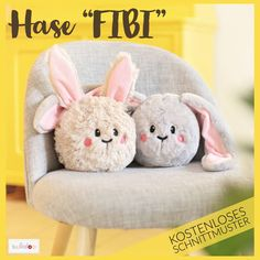 """Sewing Easter: sewing pattern rabbit cuddly head FIBI - The sweet Easter bunny """"FIBI"""" is just as suitable for cuddling and playing as a doorstop or Easter - Diy Bebe, Cute Easter Bunny, Diy Gifts For Kids, Diy Gifts Easter, Baby Pillows, Business Gifts, Cuddling, Make Your Own, Sewing Patterns"""